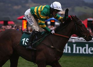 Albert Bartlett during a race at Cheltenham last year