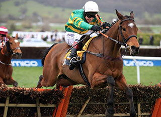 Defi Du Seuil sealing win during JCB Triumph Hurdle