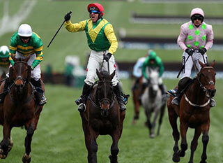 Sizing John leading the race at a past edition of the Gold Cup
